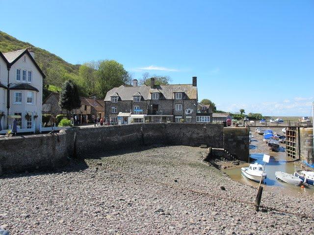 Porlock Weir tide out